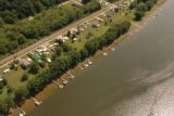 Recreational boating and camping along the Ohio River