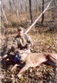 Hunter with his harvest at Big Muddy National Wildife Refuge
