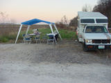 Camper with hunter information station