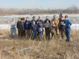 Boy scouts work day on the refuge