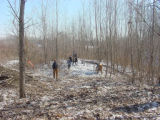 Boy scouts work day at Big Muddy National Fish and Wildlife Refuge