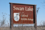 Swan Lake National Wildlife Refuge sign