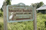 Sign for Scuppernong River and Interpretive Boardwalk