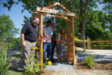 Ribbon cutting ceremony for the certified Nature Explore Outdoor Classroom