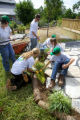 Volunteers landscaping