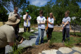 Service employees and Youth Conservation Corps crew