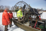 Preparing the airboat
