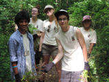Trail clearing at Cullison Park with SC3 student volunteers