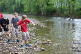 Skipping stones at Seneca Rocks