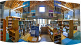 Panoramic view of the National Conservation Library