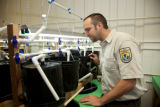 Service employee at Abernathy Fish Technology Center