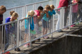 Children at the Spring Creek National Fish Hatchery