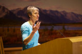 Secretary of Interior Sally Jewell addresses USFWS Directors' Forum