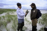 FWS Employee with Peregrine Falcon