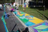 Sidewalk chalk art nature scenes