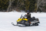 Service Law Enforcement Officer on snowmobile