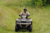 Refuge Law Enforcement Officer on ATV patrol
