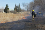 Fire crew at prescribed burn
