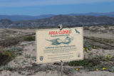 California Least Tern Nesting Area sign