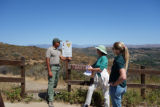 Staff monitoring endangered plant species site in Southern California
