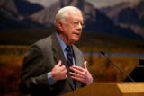 Jimmy Carter speaks at the Arctic National Wildlife Refuge 50th anniversary symposium