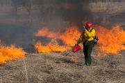 Prescribed burn at NCTC