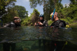 FWS divers after a dive in the San Marcos River