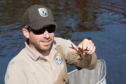 Biologists search for Fountain Darter and come up with a crayfish
