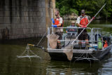 Electrofishing for invasive Asian carp