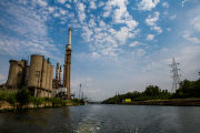 Heavy industry on the Chicago Sanitary and Ship Canal