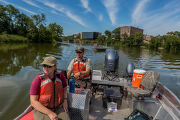 Electrofishing for invasive carp
