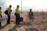 Several firefighters at prescribed burn