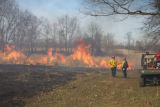 Firefighters oversee burn