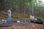 Refuge volunteers build animal crossing structure