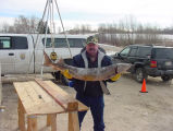 Man With Lake Sturgeon