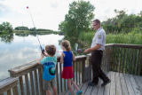Kids fishing at the refuge