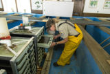 Biologist working at Leadville National Fish Hatchery
