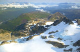 Mountain Tops and Glacier - Aerial View