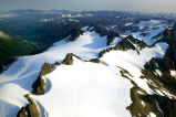 Jagged Mountain Peaks - Aerial View