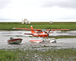 Cessna floatplane on the Keoklevik River
