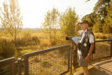 Volunteer, Larry Harrington ,at Tualatin River National Wildlife Refuge