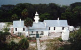 Lighthouse and buildings at Cedar Keys Refuge