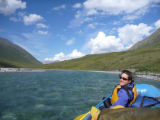 Whitewater rafter at the Arctic National Wildlife Refuge
