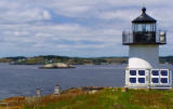 Pond Island lighthouse at Maine Coastal Islands Refuge