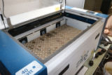 Laser engraver at Virginia Fisheries and Aquatic Wildlife Center