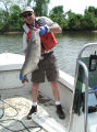 Mike Mangold with blue catfish at Dyke Marsh,Virginia