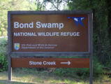 Entrance sign at the Bond Swamp National Wildlife Refuge