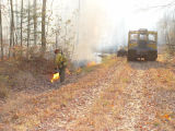 Prescribed burn at Chesapeake Marshlands NWR