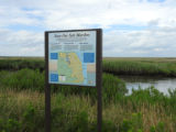 """Scan Our Saltmarshes"" interpretive sign"