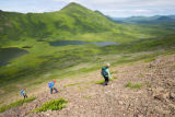 Hikers at Kodiak National Wildlife Refuge